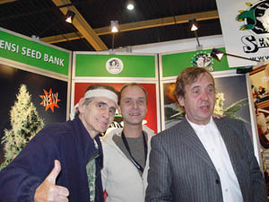 With Allan and Ben Dronkers at the cannabis festival.