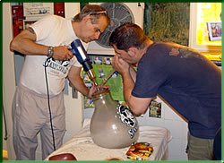 Bill's VAporizer demo at the Hash, Marijuana & Hemp Museum in Amsterdam